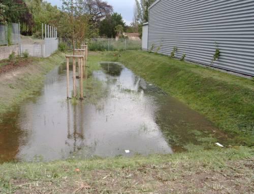 Regenwasserrückhaltebecken für Dachflächenwasser